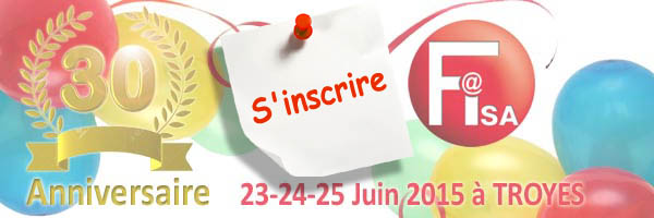 30ième anniversaire de Fisa, Save the date !